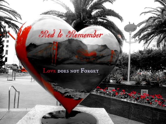 Post image for Red to Remember – Red Art Photos, Facing AIDS