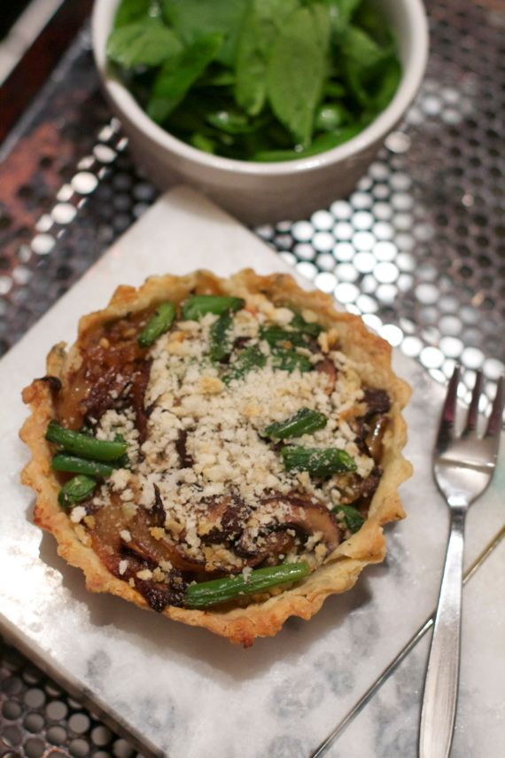 Green Bean Mushroom Onion Tart in Sage Crust: A Five Star Makeover for Green Bean Casserole
