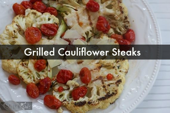 Grilled Cauliflower Steaks by Angela Roberts