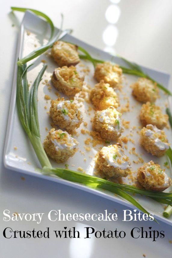 Savory Cheesecake Bites