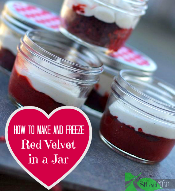How To Make And Freeze Red Velvet Cake In A Jar