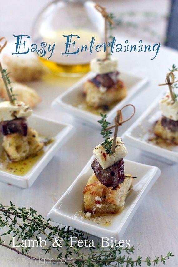 Lamb Feta Party Bites via @spinachtiger
