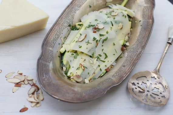 Zucchini with Pecorino by Angela Roberts