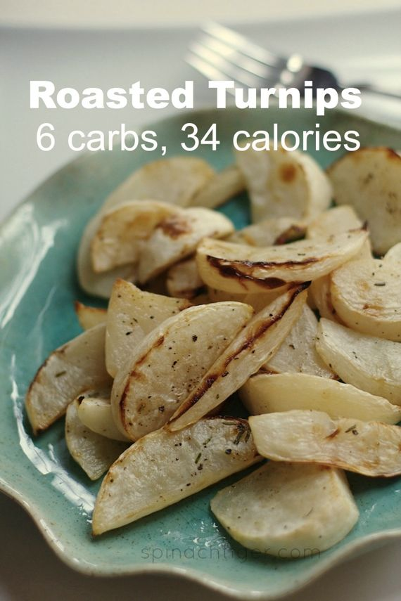 Roasted Turnips, low carb, low calorie from Spinach Tiger