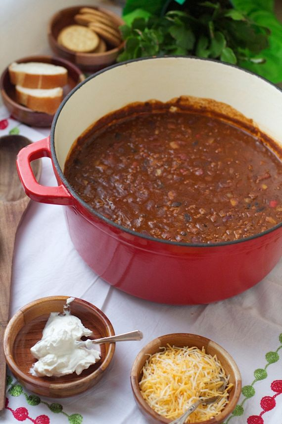 Doug's Five Minute, Five Hour, Five Bean Chili