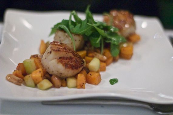 Scallops at M, A Restaurant in Nashville by Angela Roberts