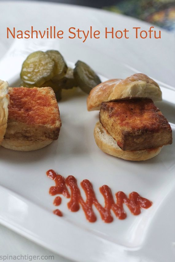 Nashville Hot Tofu Sliders by Angela Roberts