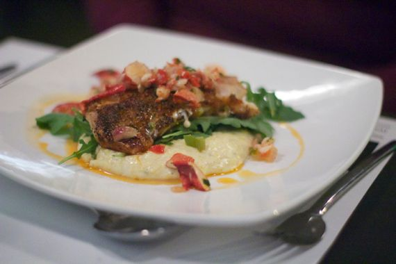 Snapper with Grits at M in Nashville by Angela Roberts
