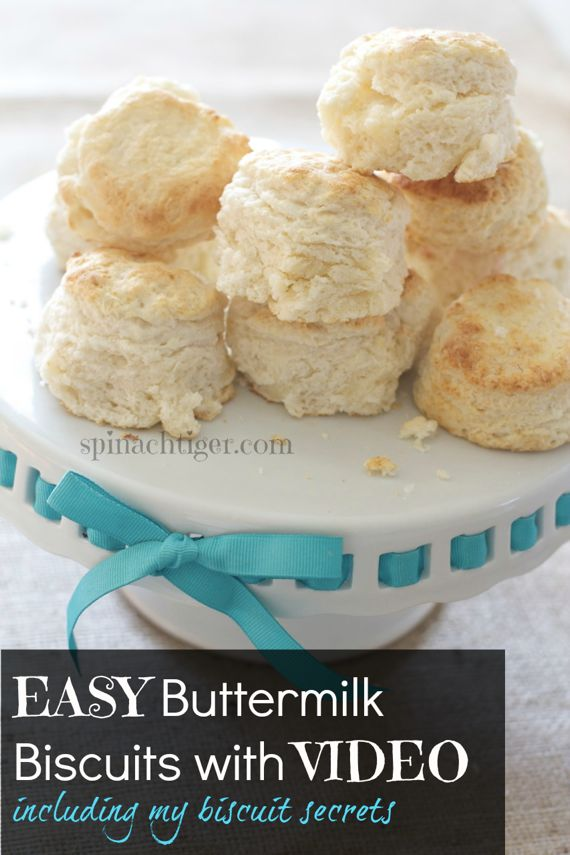Southern Fluffy Biscuit with Biscuit Video by Spinach Tiger