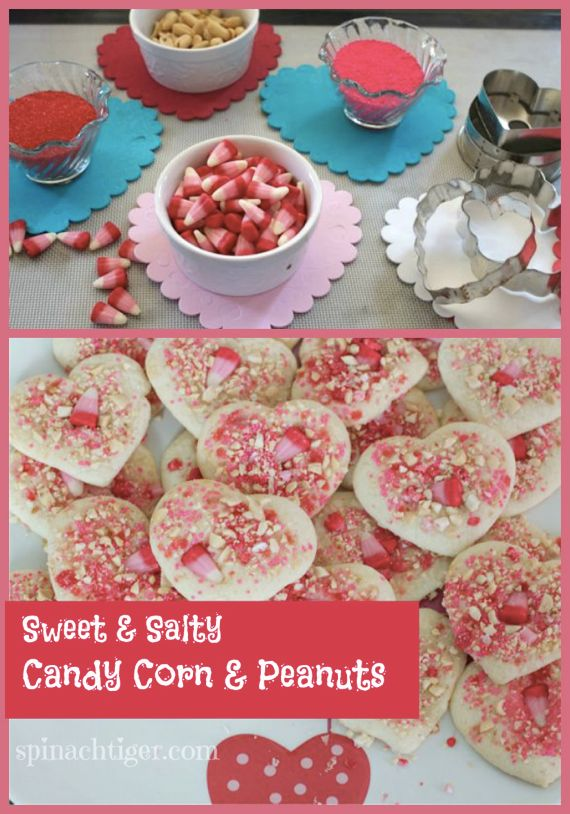 Sugar Cookies with Candy Corn and Peanuts by Angela Roberts