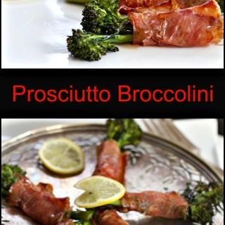Roasted Broccolini Wrapped in Prosciutto