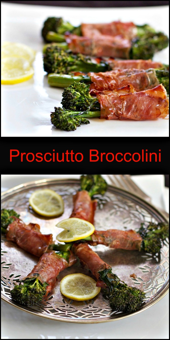 Roasted Broccolini with Prosciutto from Spinach Tiger