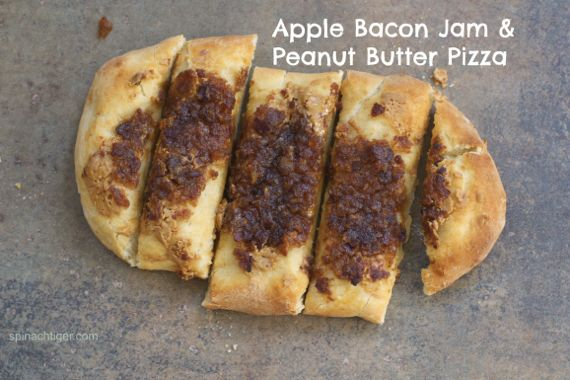 Peanut Butter and Apple Bacon Jam Pizza