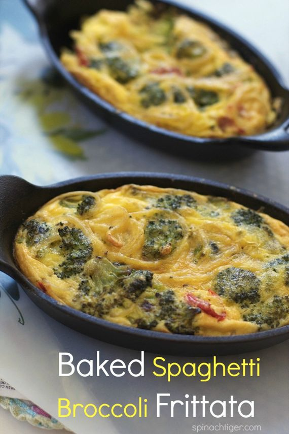 Baked Frittata with Spaghetti and Broccoli