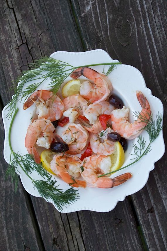 Big Fat Healthy Shrimp Recipes with poached shrimp from Spinach Tiger