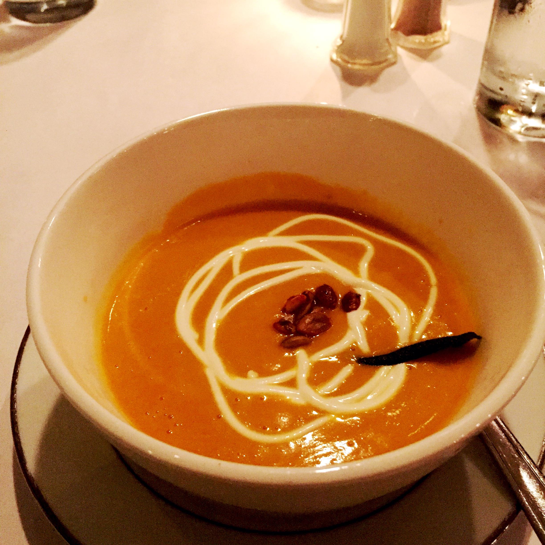 Squash Soup at Mack and Kate's