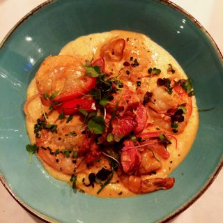Shrimp and Grits at Mack and Kate's