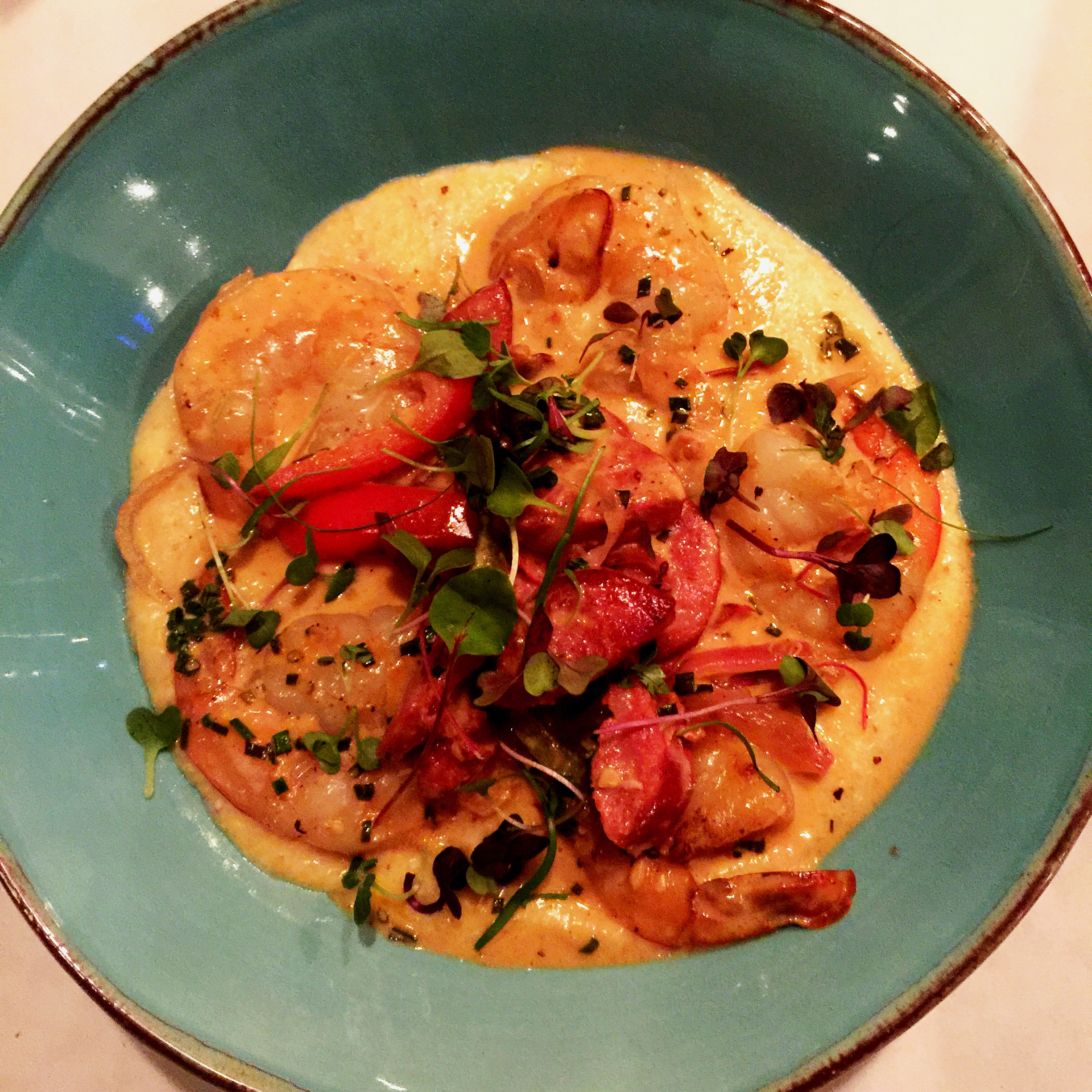Shrimp and Grits at Mack Kates Cafe