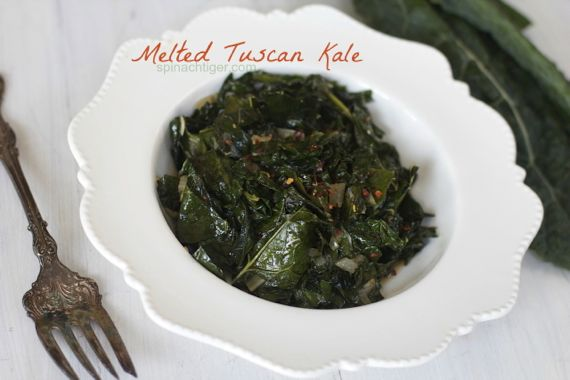 Melted Tuscan Kale for National Kale Day by Spinach Tiger