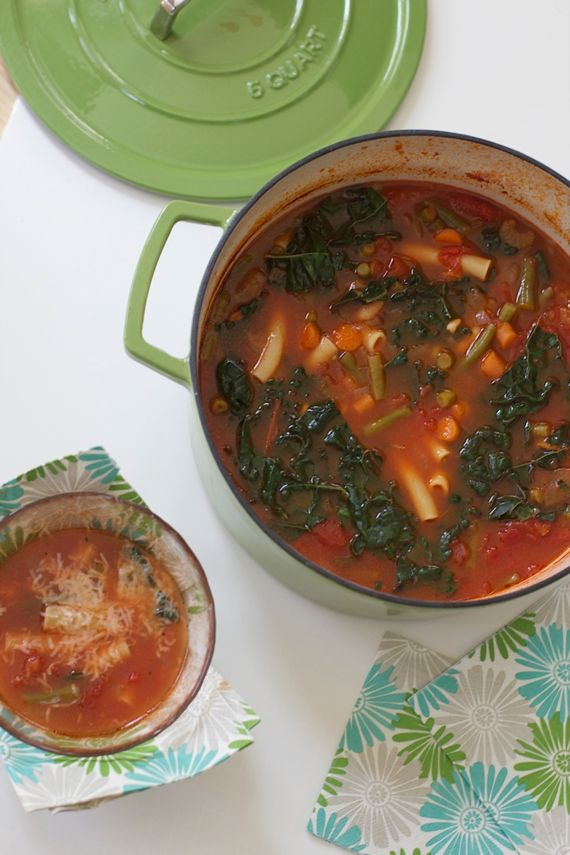 Quick Minestrone Soup and Cast Iron Pots