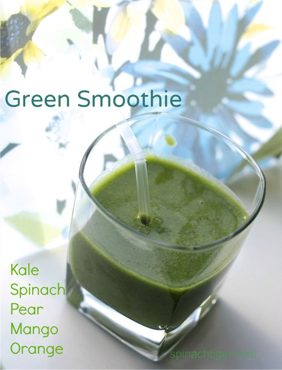 Two Green Smoothie Recipes using kale and spinach by Angela Roberts
