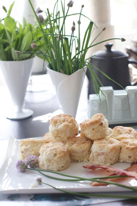 Bacon Cheddar Chive Biscuits by Angela Roberts of Spinach Tiger