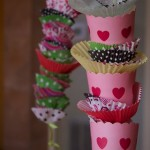 Valentine's Decorations made with cupcake liners by angela roberts