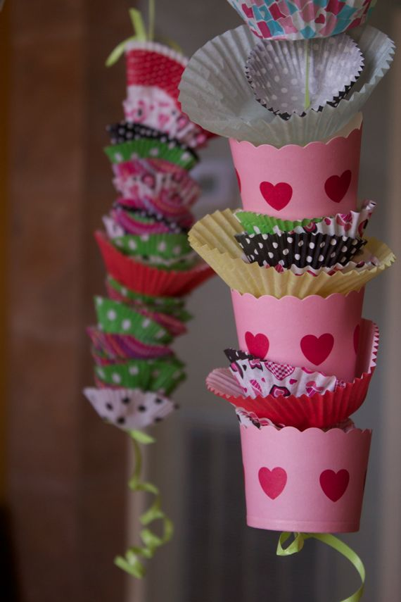 Cutest Birthday Party Decoration Made with Cupcake Liners