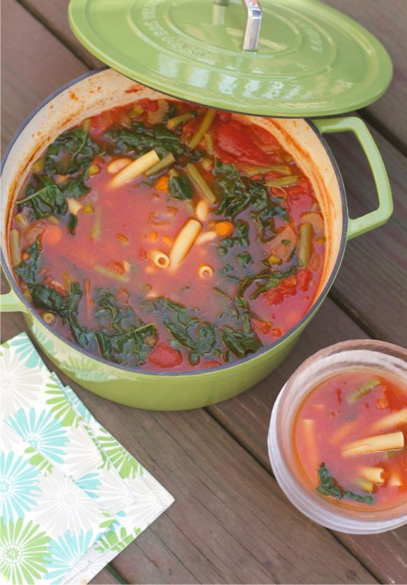 Quick and Easy Minestrone Soup and Cast Iron Dutch Ovens