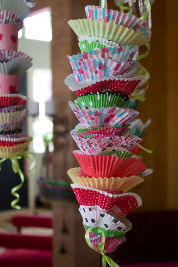 Cutest Birthday decoration made with cupcake liners by Angela Roberts