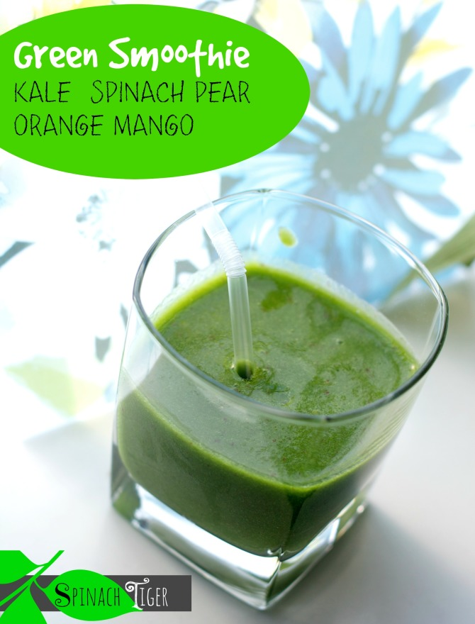 Two Green Smoothie Recipes with Kale & Spinach by Spinach Tiger