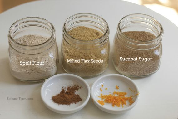 How to make spelt and flour pancakes with milled flax seeds from spinach tiger