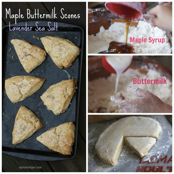 Maple Buttermilk Scones with Lavender Sea Salt by Angela Roberts