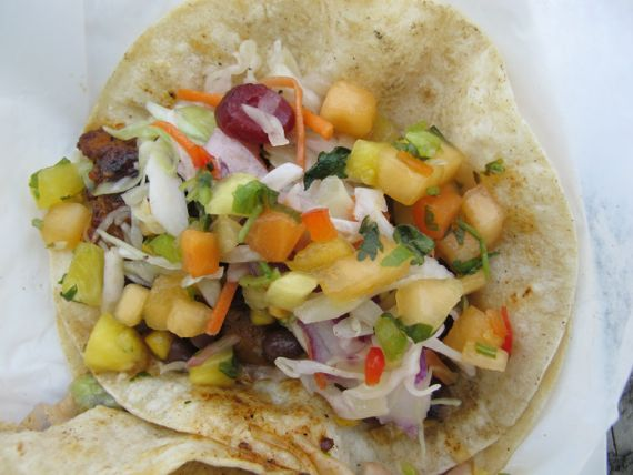 Fish tacos at Riff's Fine Food Truck by Angela Roberts