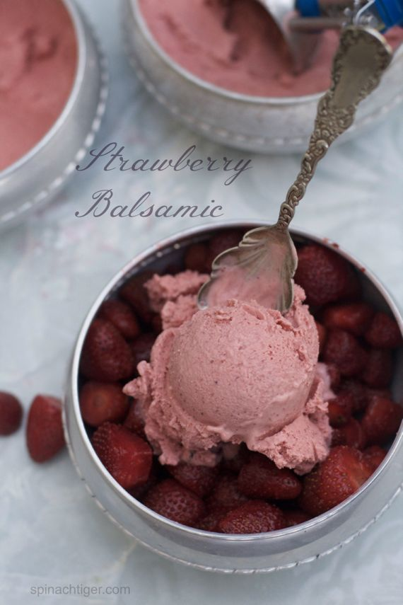 Strawberry Balsamic Ice Cream by Angela Roberts