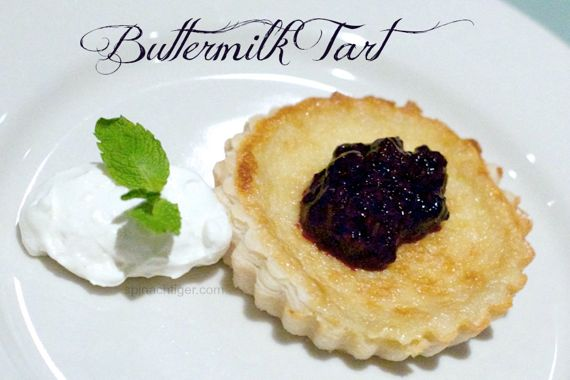 Whiskey Buttermilk Tart with Blackberry Compote by Angela Roberts