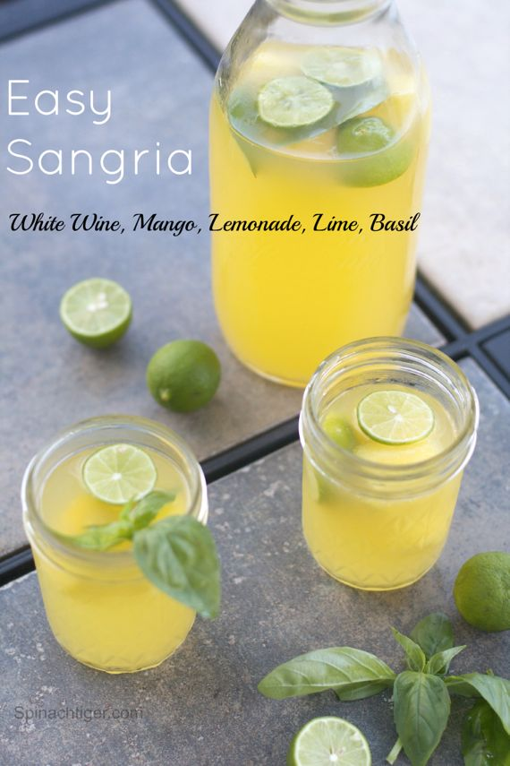 White Sangria and Holiday Side Dishes from Spinach TIger