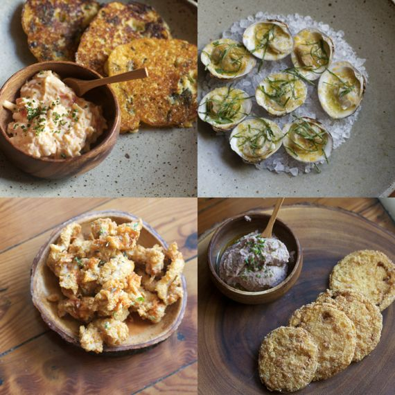 Appetizers at Husk Nashville by Angela Roberts
