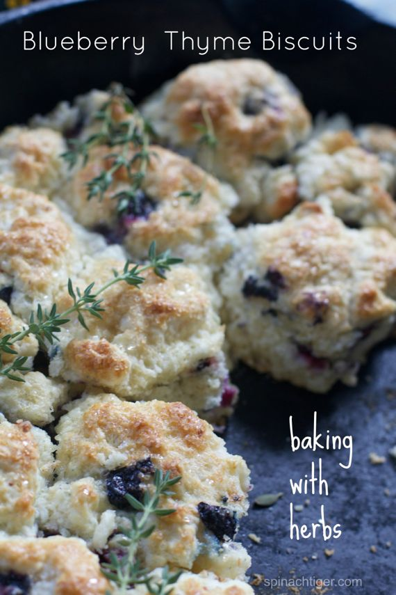 Blueberry Thyme Biscuits by Angela Robderts