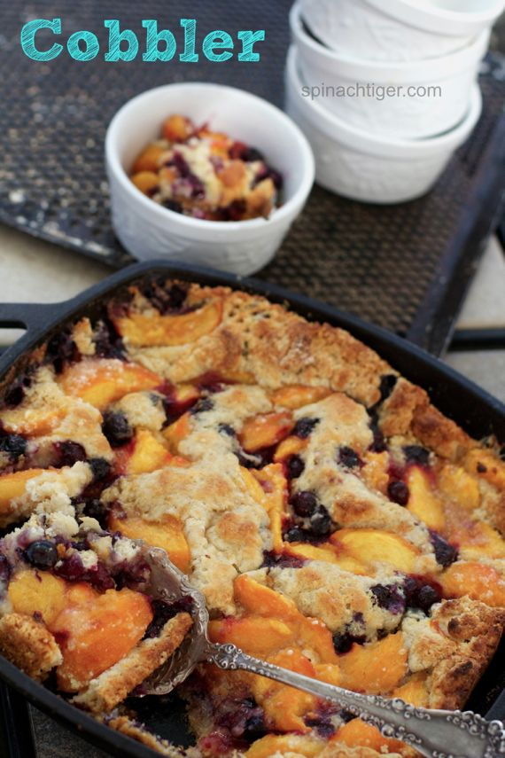 Peach Berry Cobbler How to Freeze Peaches and My Best Peach Recipes from Spinach Tiger