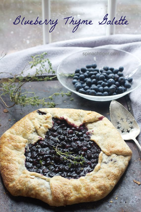 Bluebery Thyme Galette 1 by Angela Roberts