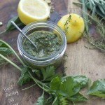 Walnut Pesto with Seven Garden Herbs by Angela Roberts