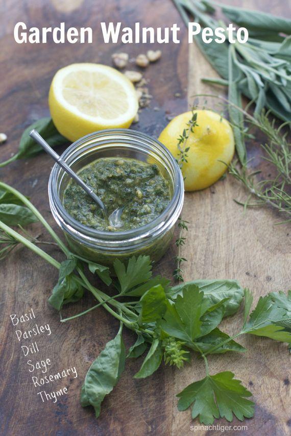 Walnut Pesto Sauce with Seven Herbs