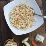 Blue Slaw Cole Slaw with Green Apple by Angela Roberts