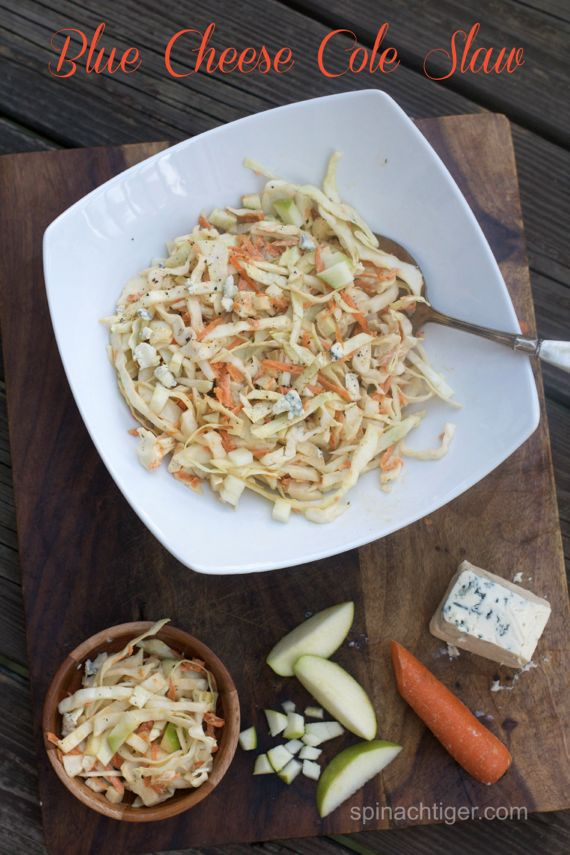 Blue Cheese Cole Slaw with Green Apple and 7 Tips for Making Cole Slaw