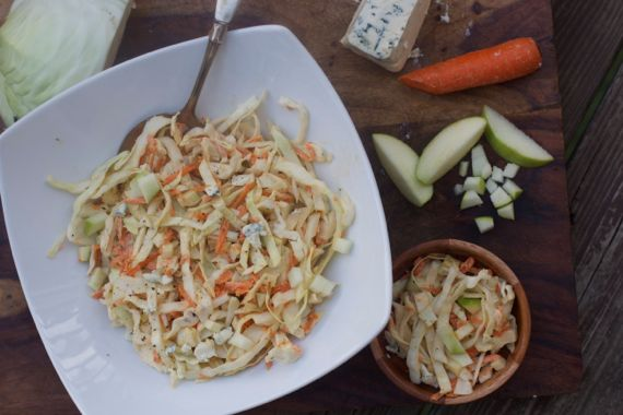 Blue Cheese Cole Slaw with Green Apple 2 by Angela Roberts