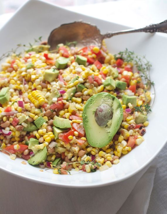 Corn Avocado Salad, Black Eyed Peas, Tomato by Angela Roberts