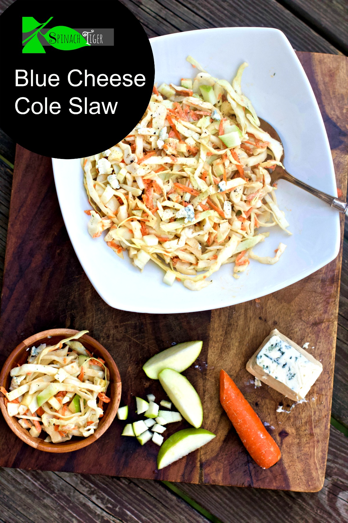 Blue Cheese Cole Slaw from Spinach Tiger