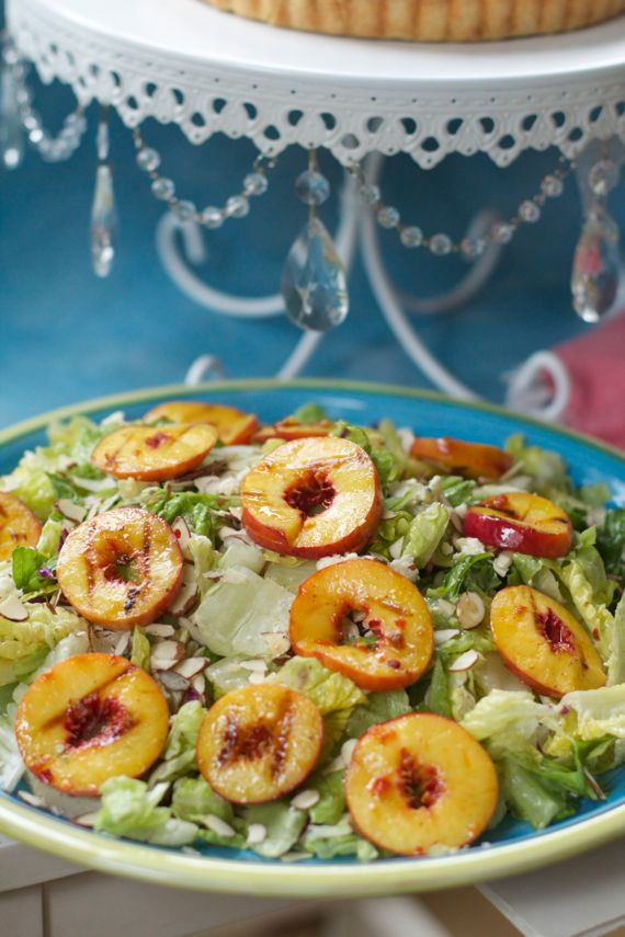 Peach Blue Cheese Salad How to Freeze Peaches and My Best Peach Recipes from Spinach Tiger