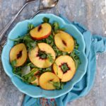 Grilled Peaches with Arugula Salad